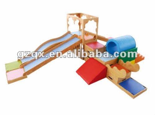 Family Wooden Slide Indoor Wooden Playground - Buy Indoor Wooden ...