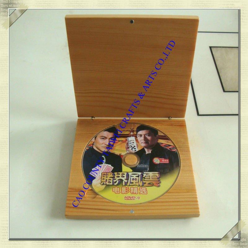 Double Dvd Case,Wooden Box,Keepsake Box,Natural Wood,Wedding ...
