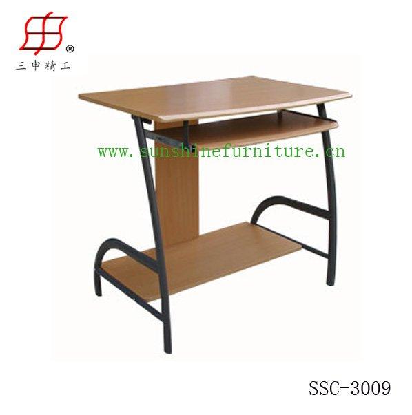 Simple Steel Wooden Computer Table Desk Model - Buy Steel Wooden ...