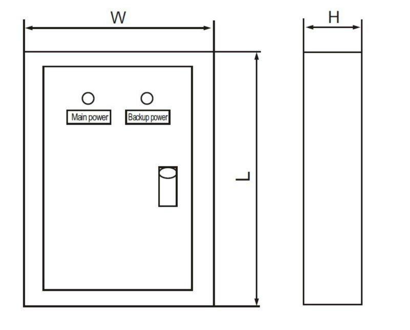 63a Generator Miniature Circuit Breaker Ats Panel View