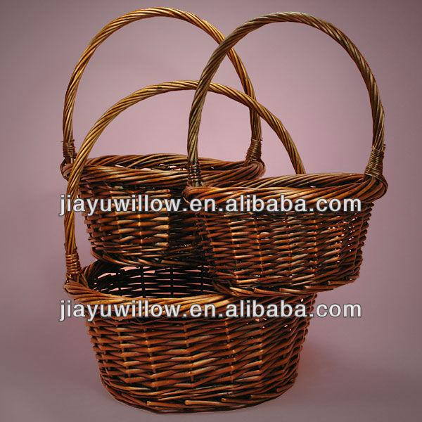 Christmas Empty Wholesale Wicker Flower Basket With