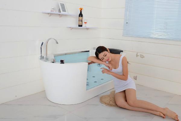 Warm te koop plastic combo volwassen bad massage lucht en