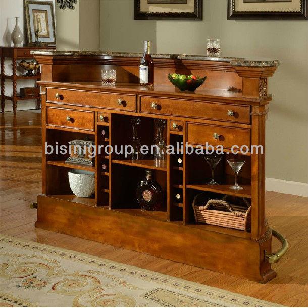 Bisini Einfache Und Natürliche Stil Aus Holz Zähler Bar,Zuhause ...