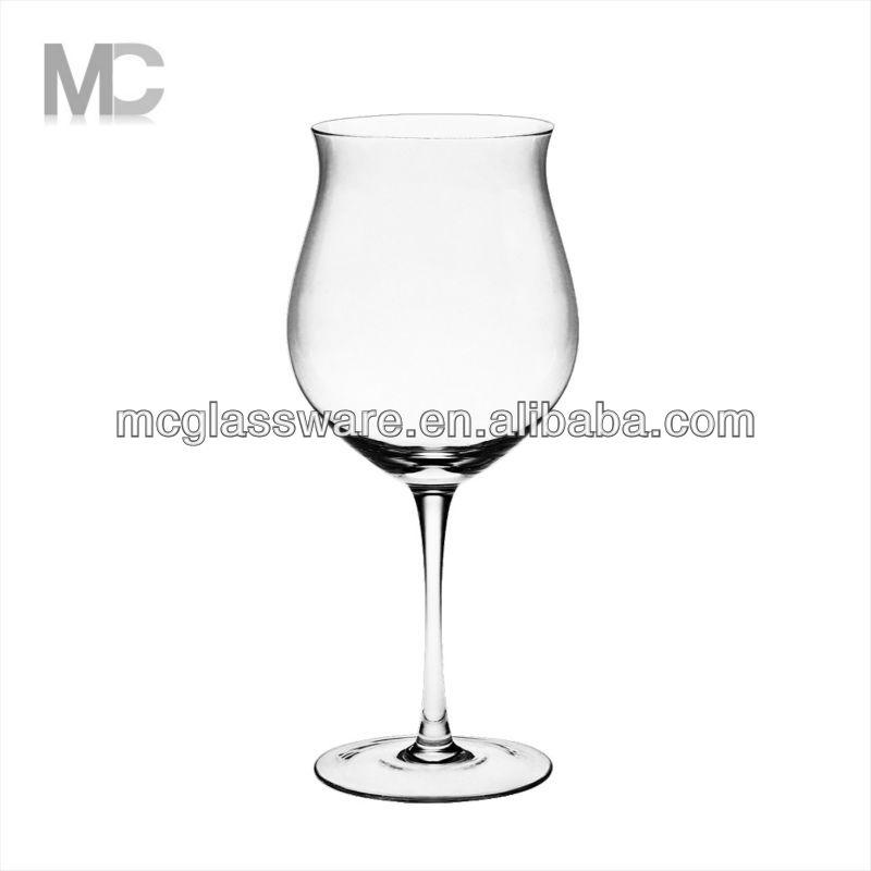 Wholesale unique wide mouth tulip shaped long stem wine glass buy wine glass long stem wine - Square bottom wine glasses ...