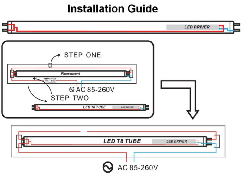 led tube connection diagram led image wiring diagram wiring diagram double fluorescent light jodebal com on led tube connection diagram