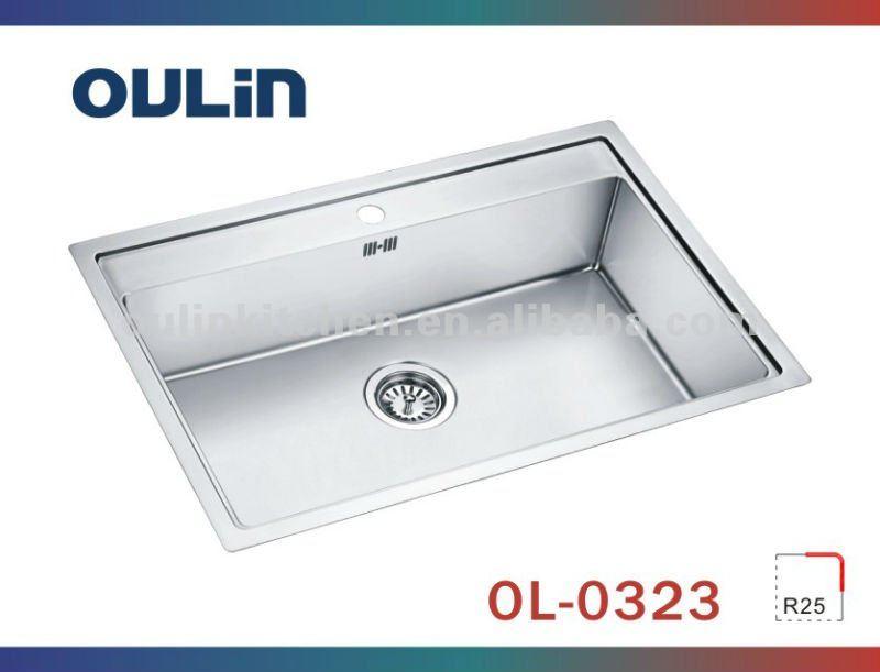 oulin sinks stainless steel laundry sink undermount sink clips ol0323