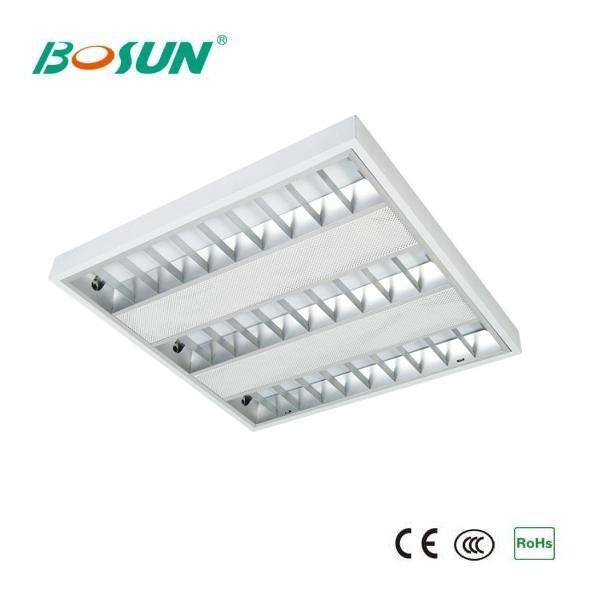 4x14w Recessed T5 Square Fluorescent Light Fixture