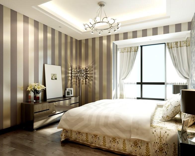 Modern Black Wallpaper Striped Purple And Silver Glitter