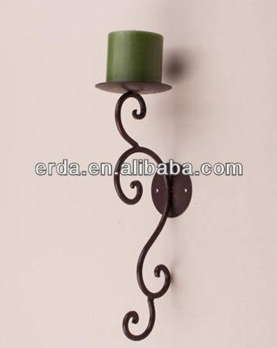 paire métallique en fer forgé applique mur bougeoir - buy product