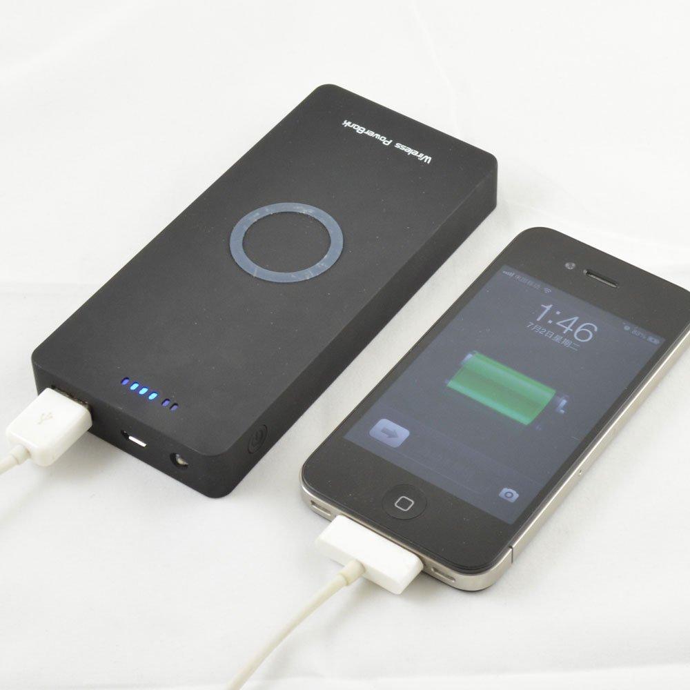 949c99e356c QI cargador inalámbrico estándar con 5000 mAh Banco de la energía para  Nokia Lumia 820 920