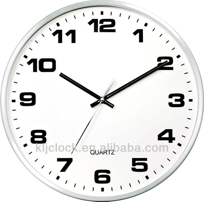 Artesanía De Metal Wh-9967 Gran Reloj De Pared De Metal Claro Dial ...