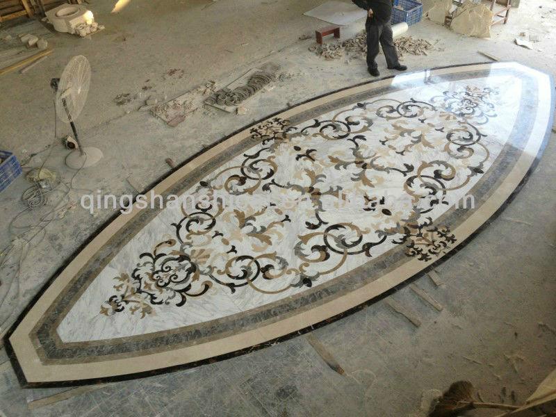 Marble Floor Inlay Cutting : Flooring water jet cutting marble design medallion floor