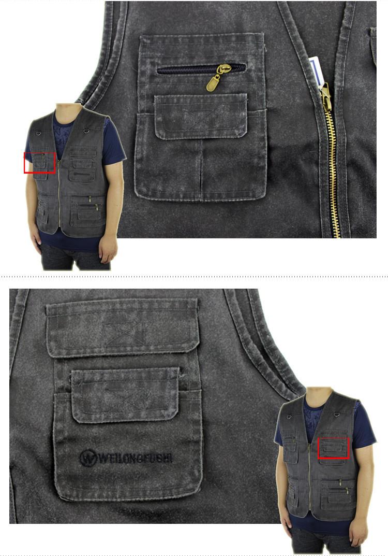 2016 הקיץ של גברים חמים למכירה בתוספת גודל 5XL 4XL 'קט ג' ינס אפוד מזדמן רב בכיס הז ' קט גברים משלוח חינם