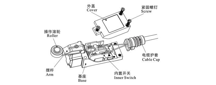 plunger limit switch az  two way waterproof limit