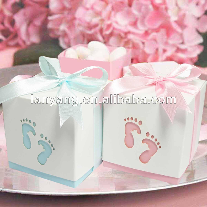 Baby Shower Adornos Bebé Pies Candy Caja De Regalo Baby Shower