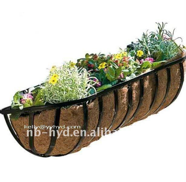 Wall Mounted Trough Planters Buy Basket Tree Planting Basket Metal