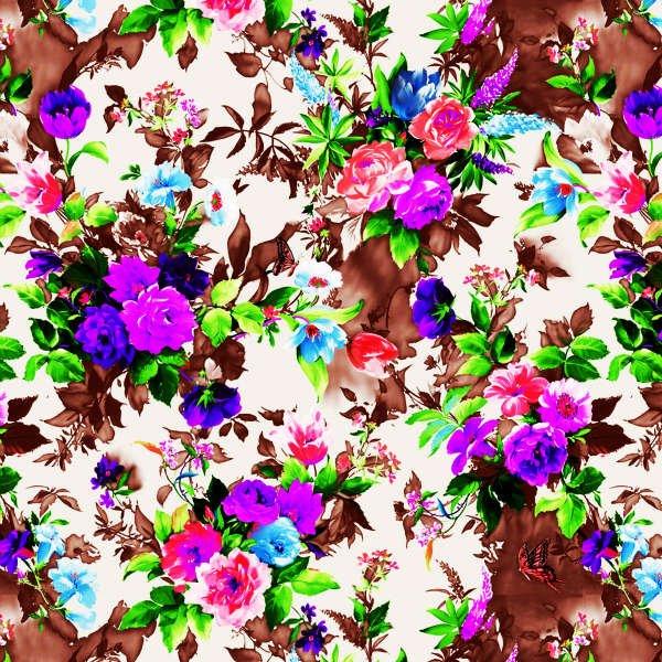 2012 fashion stretch small flower print dress fabric