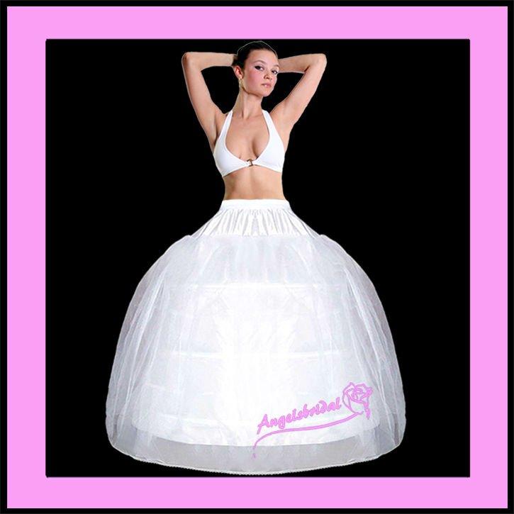 completo vestido de novia 3-hoop crinolina petticoat slip-03 - buy