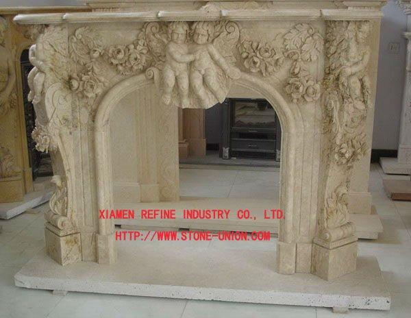 Stone fireplace mantel,white marble fireplace mantel - Stone Fireplace  Mantel,White Marble Fireplace - Cheap Fireplace Mantels IDI Design