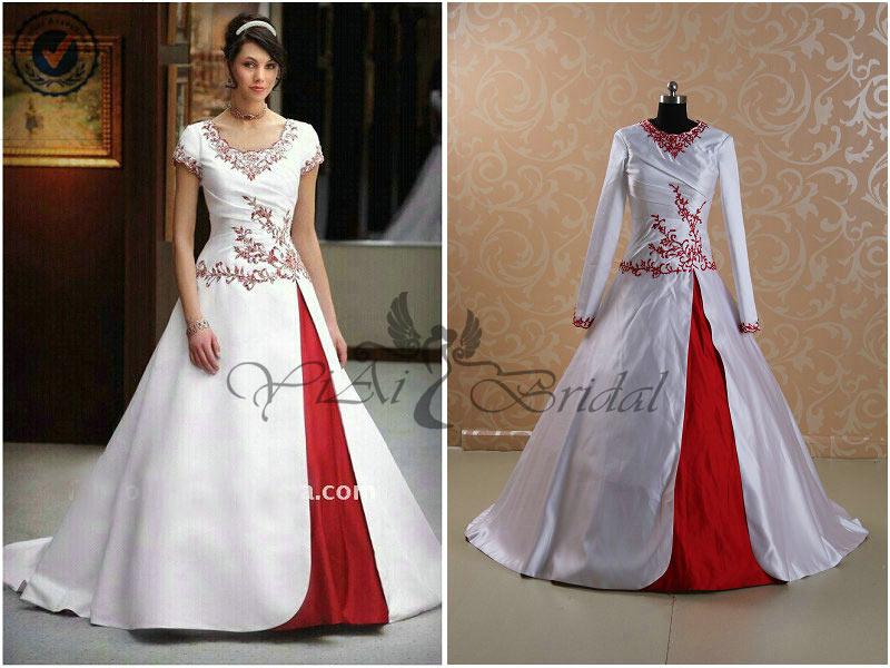 Rsw157 Colorful 2014 Long Sleeves Muslim Bridal Pictures Muslim ...