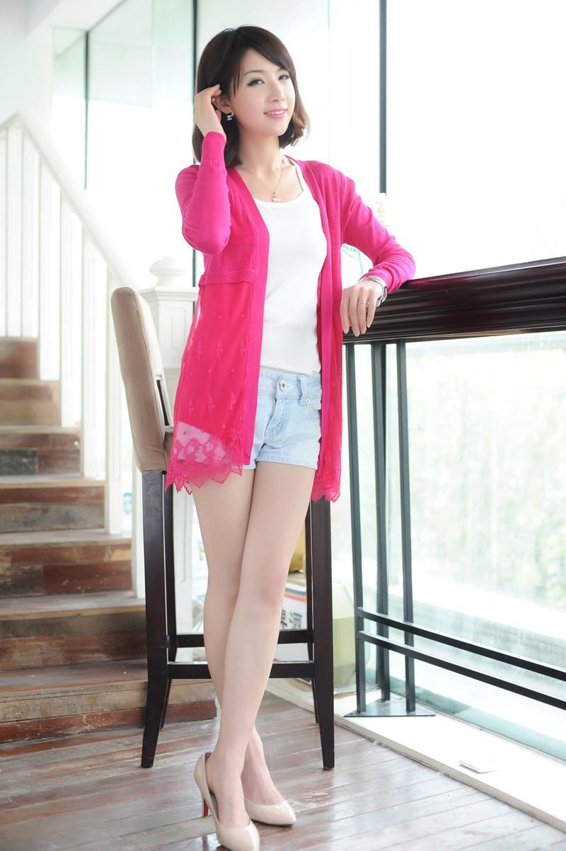 משלוח חינם 2014 הגעה לניו אישה סוודר דק הלבשה עליונה קרדיגן הקשר סוודר תחרה בתוספת גודל קרדיגן סרוג מעיל