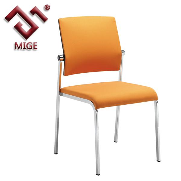 silla oficina fija naranja