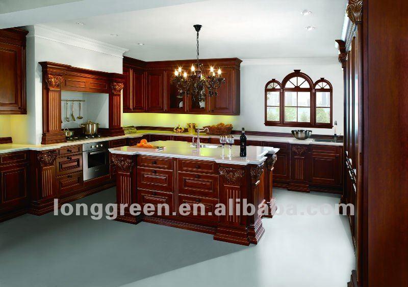 2012 nuevo producto de lujo estilo americano gabinetes de for Estilos de gabinetes de cocina