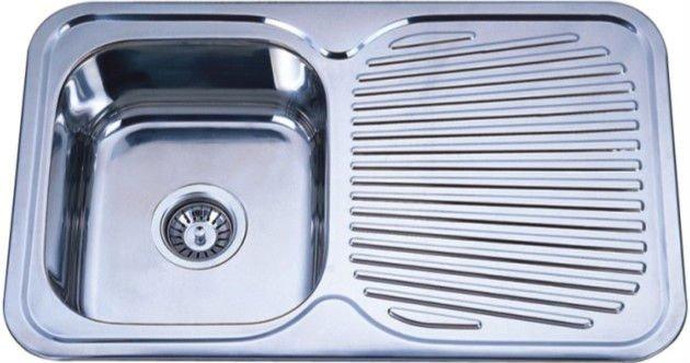 drain board stainless steel kitchen basin of kis7848 - Kitchen Basin Sinks