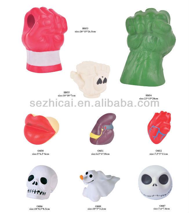 Squishy Brains Toys : Soft Toy Brain Stress Toy Spike Ball Toys Growing Sponge Toys Foam Brain Squishy Toys Hand ...