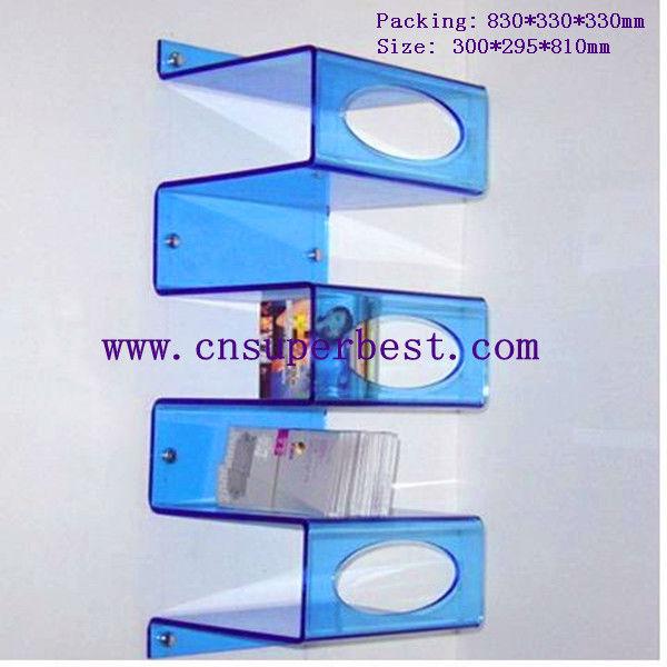 New Design Wall Mounted Pmma Acrylic Magazine Rack - Buy Acrylic ...