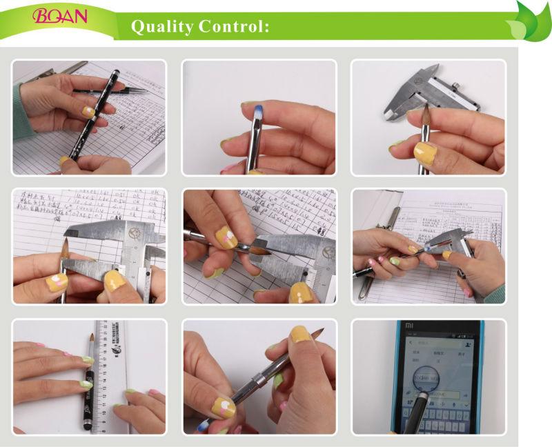 2015 BQAN Pink Rhinestone Handle Nail Art Painting Nail Art Brush Pure Color