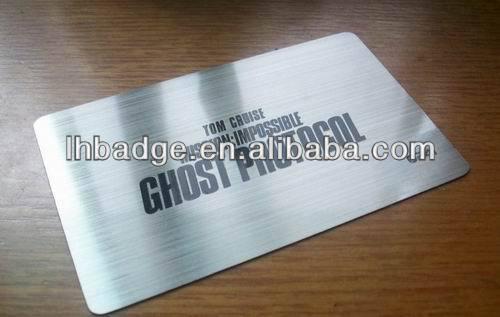 Aluminum Business Card Blank Aluminum Business Card Anodized