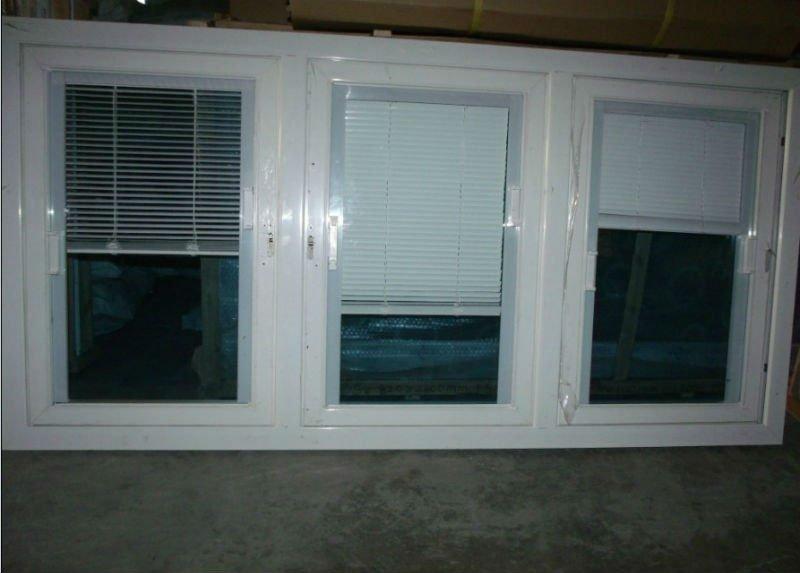 Aluminum Window With Blinds Between Double Glass Window