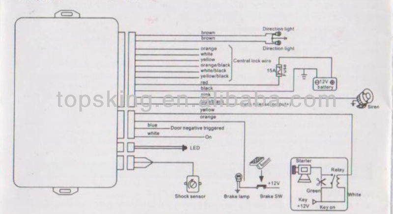 black widow car alarm wiring diagram