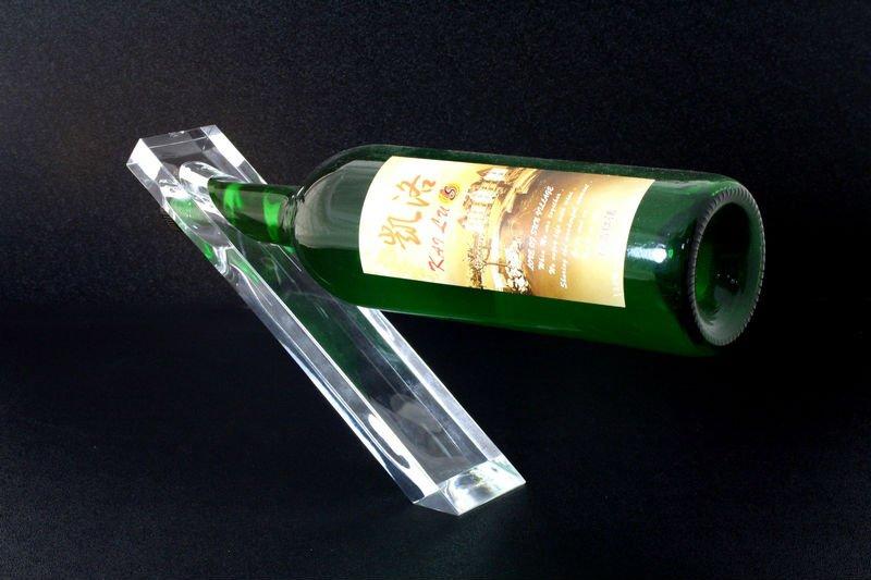 Unique Single Wine Bottle Display Holder Shelf Stand Rack
