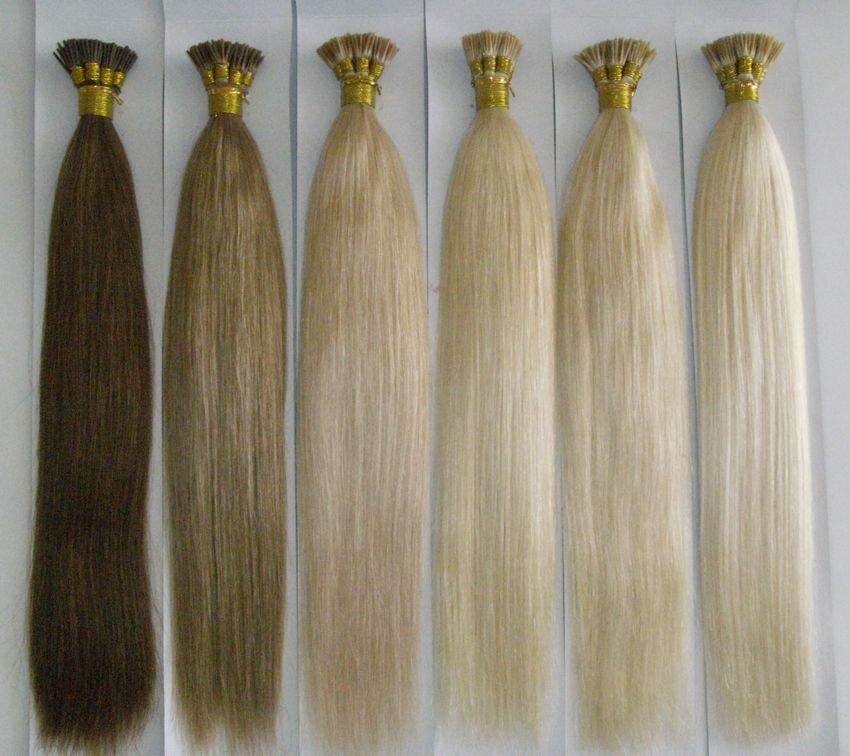 Nail/u/flat-tip Human Hair Keratin Hair Extension,22inch,2#/4#/613 ...
