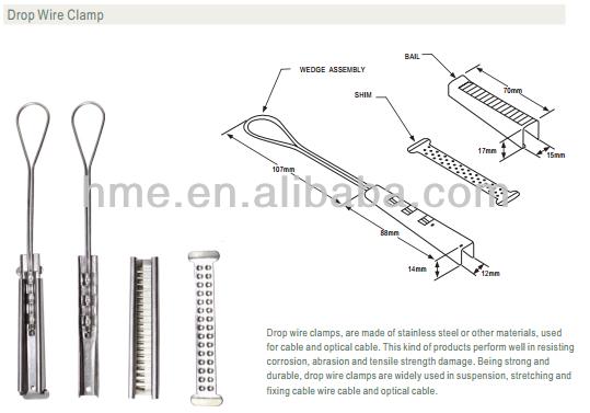 ss304 suspension bridge cable clamp