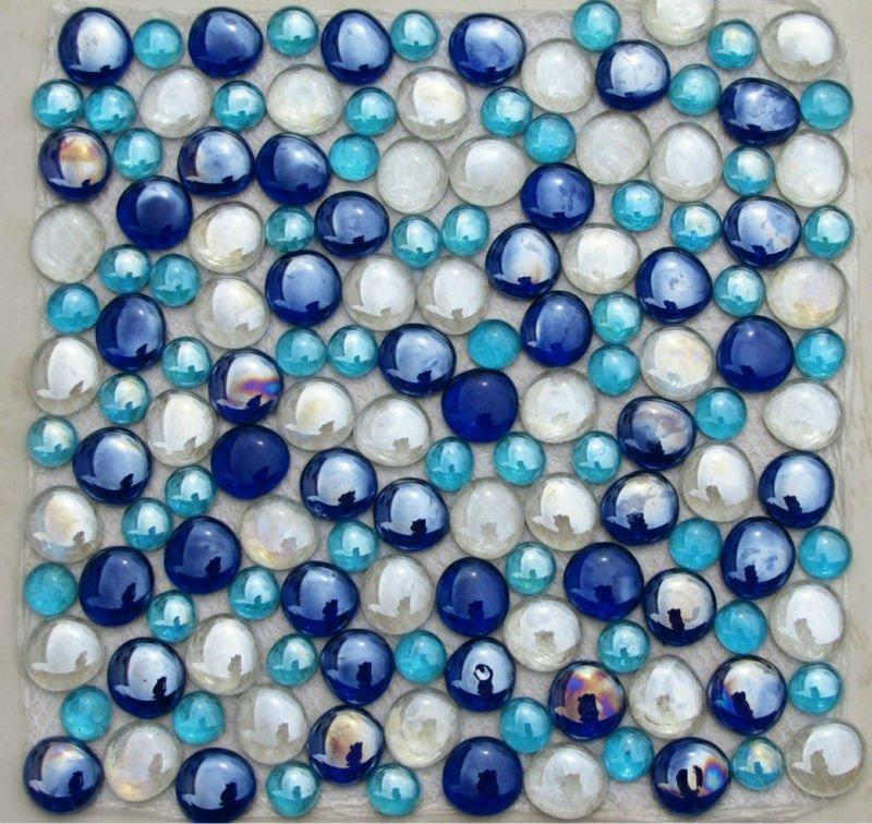Pg05 Various Size Multi Color Decorative Glass Pebbles