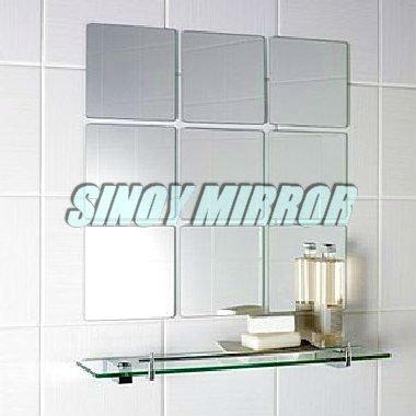 3 6mm Beveled Mirror Glass Tiles Bathroom