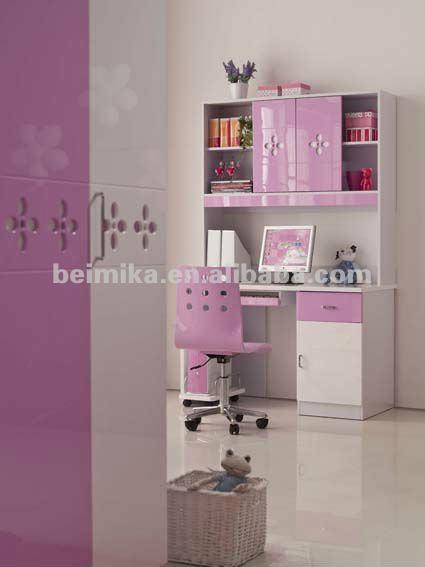 Rosa brillante estilo moderno dormitorio ni os conjuntos mueble para las ni as 872 buy - Escritorios de ninas ...
