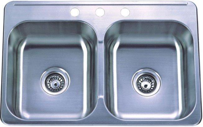 Cupc sinks stainless steel kitchen overmount kitchen sink - Kitchen sink clips extra long ...