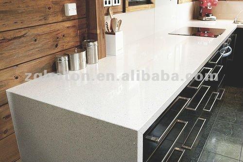 Sparkle White Quartz Stone For Table Top
