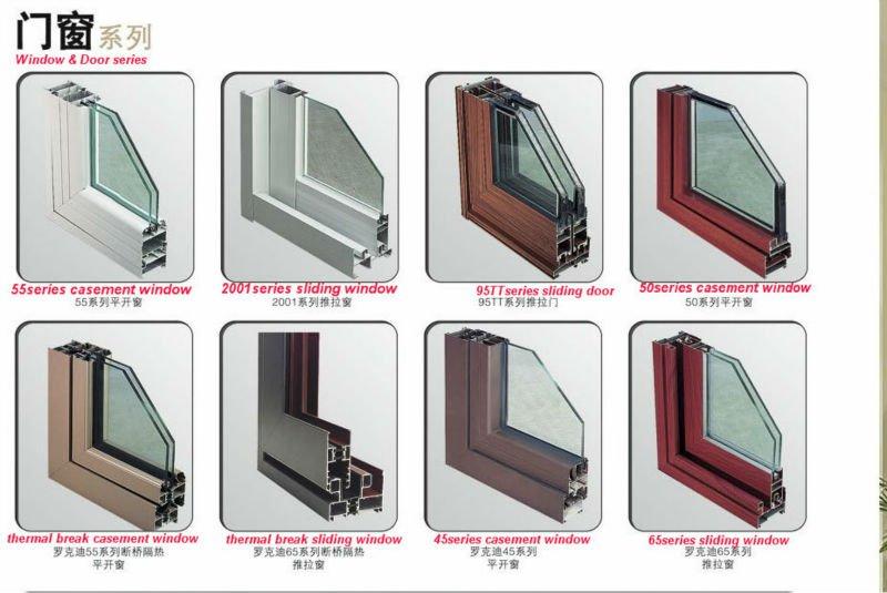 Double glazed alumium frame balcony french doors aluminum for Double glazed window designs