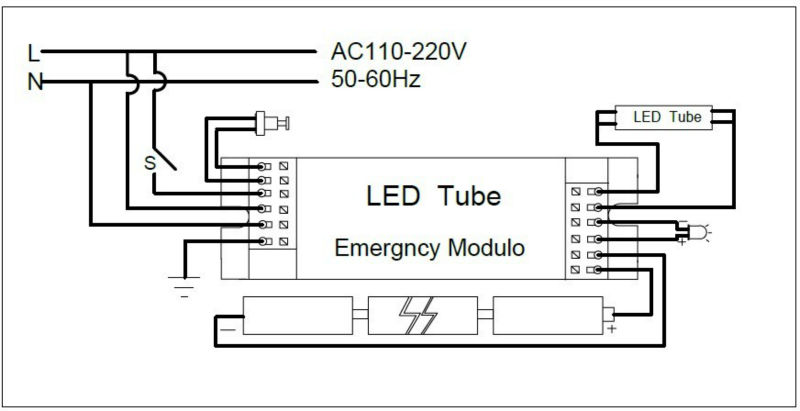 led sign wiring diagram exit sign wiring diagram 110 or 220
