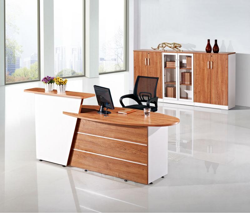 wearproof salon reception desk counter melamine wooden reception desk white - Salon Reception Desk
