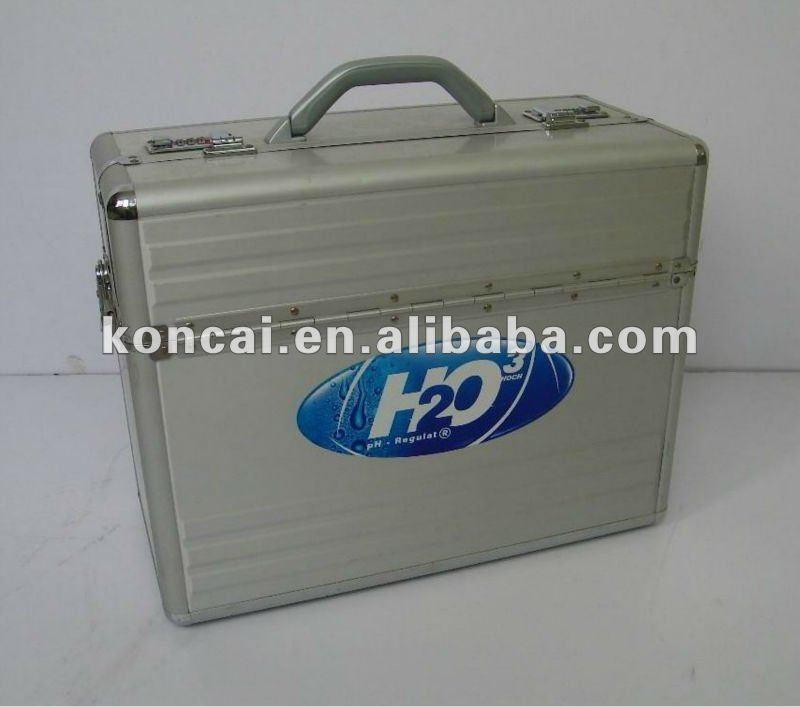 Aluminum Document Case with Stripe pattern Aluminum Panel 9