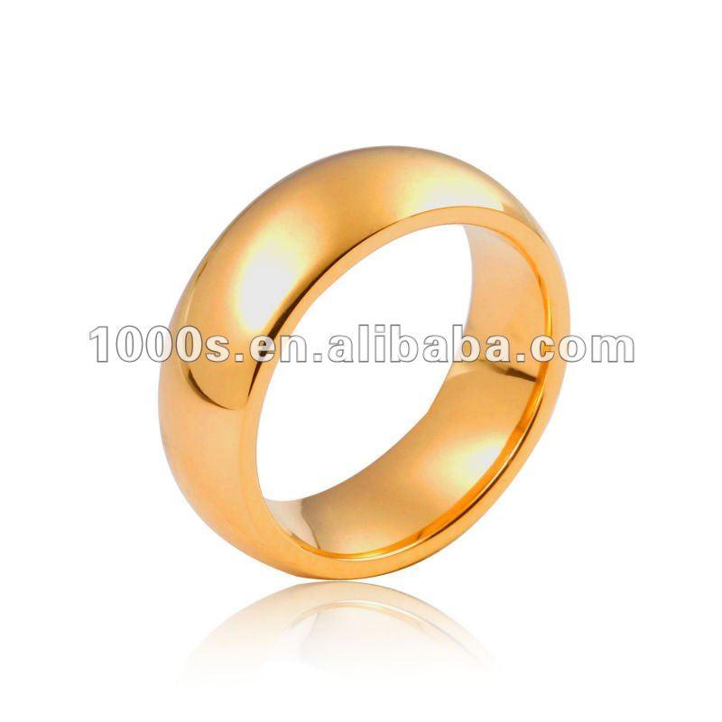 Simple Design Golden Stainless Steel Finger Rings For Men - Buy ...