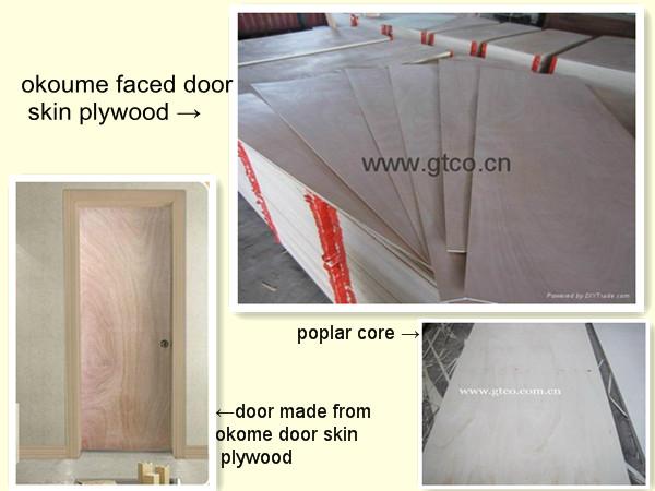 Trade Assurance Exterior Mahogany Veneer Door Skin For