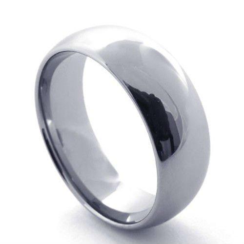 Joyer a caliente del verano llanura metal tungsteno anillo for Metal rodio en joyeria