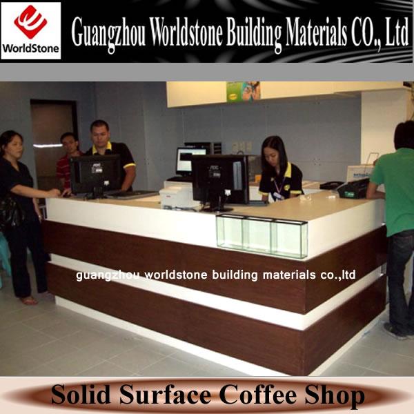 Coffee Shop Counter Top Cashier Counter For Restaurant